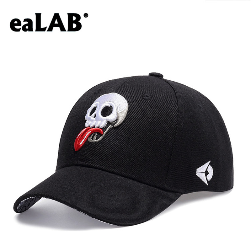 f88b8a5bcbc Detail Feedback Questions about eaLAB Mens Baseball Cap Men Dad Hat Women  Summer Hat Female Sport Casual Bones Cap Skull Embroidery Unisex Black  Snapback ...