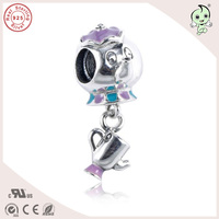 New Collection Beautiful DIY Enamel 925 Sterling Silver Elephant Cup Pendant Charm Fitting European Famous Bracelet