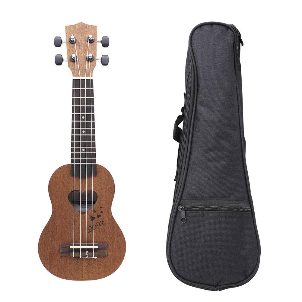 17 pouces ukulélé Mini guitare hawaïenne 4 cordes Guitarra ukulélé Instrument de musique pour enfants cadeau avec Ukelele sac