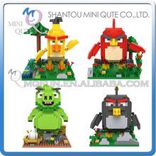 Wholesales 48 pcs/lot Mix 4 models Mini Qute LOZ Kawaii cartoon phone game bird animal building blocks model educational toy