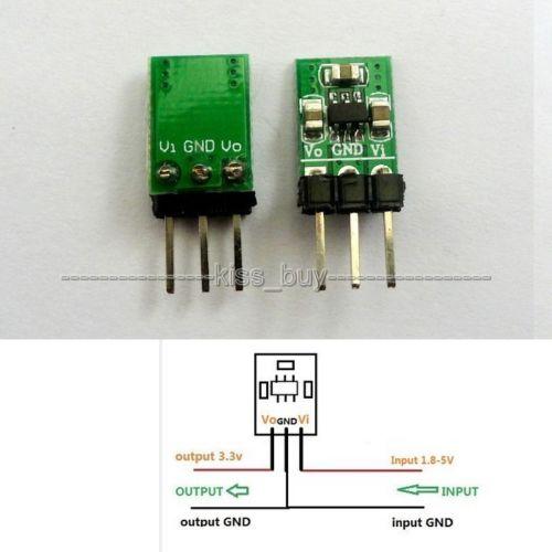 Dykb DC-DC Step-Down & Step-Up Converter Module 8V 3V 3.2V 3.7V 5V To 3.3V Boost & Buck Low Noise Regulated Charge Charging