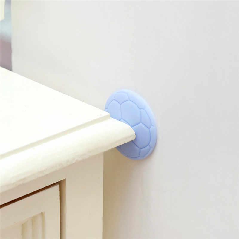 Dropship 1x Stiker Dinding Pintu Kecelakaan Bantalan Anti-Tabrakan Bisu Gagang Pintu Tebal Dinding Kenop Pintu Tikar Rumah Dekorasi Kamar dekorasi Dinding