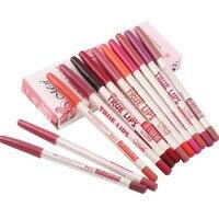12pcs Lot 15CM 12Colors Set Waterproof Lip Liner Pencil Women S Professional Long Lasting Lipliner Lips