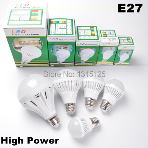Wholesale E27 B22 Led Light Bulb 3W 5W 7W 9W 10W 12W LED Bulb Lamp, 110V / 220V Cold Warm White Led Spotlight Free Shipping