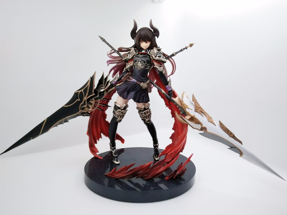 Pop Game Anime Kotobukiya Rage Of Bahamut Dark Dragon Rider Forte The Devoted 24CM PVC Action Figure Toy New Loose pop game anime kotobukiya rage of bahamut dark angel olivia ani statue 29cm pvc action figure toy new loose ka0351