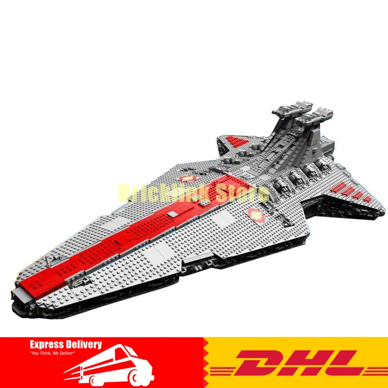 IN STOCK Lepin 05077 6125Pcs Gift The UCS Rupblic Star Destroyer Cruiser ST04 Set Building Blocks Bricks Toys lepin 6125 stucke star classic modell wars die ucs st04 republic cruiser educational building blocks bricks spielzeug mode