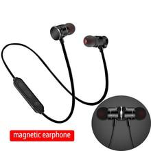 Bluetooth4.1 Stereo Bass In Ear Sport Bluetooth Earphone Running Hands free Headphone for samrt phone Magnetic Wireless earphone все цены
