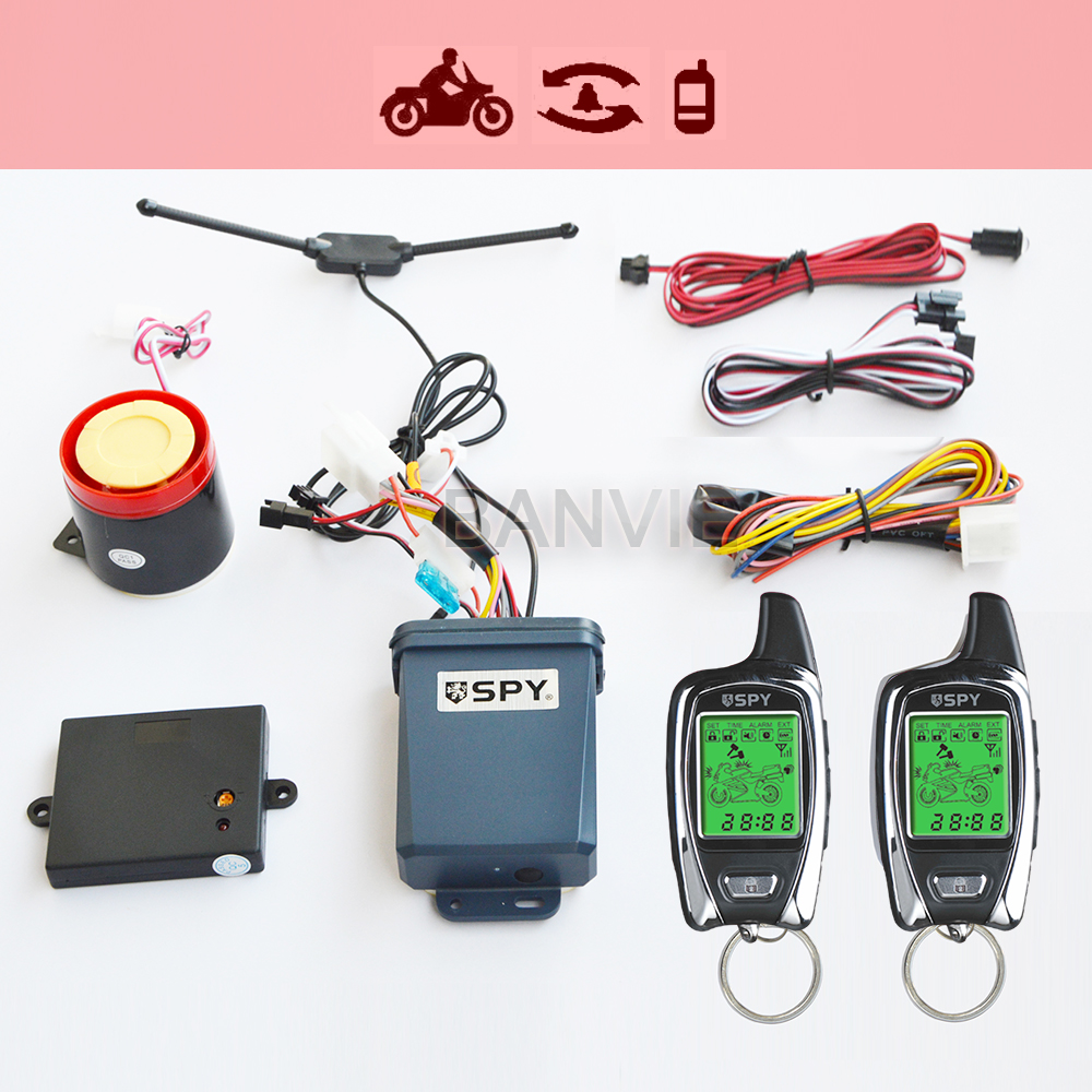 100% OEM from SPY 5000m 2 Way Anti-theft Motorcycle security alarm system with two LCD transmitters remote engine start цена 2017
