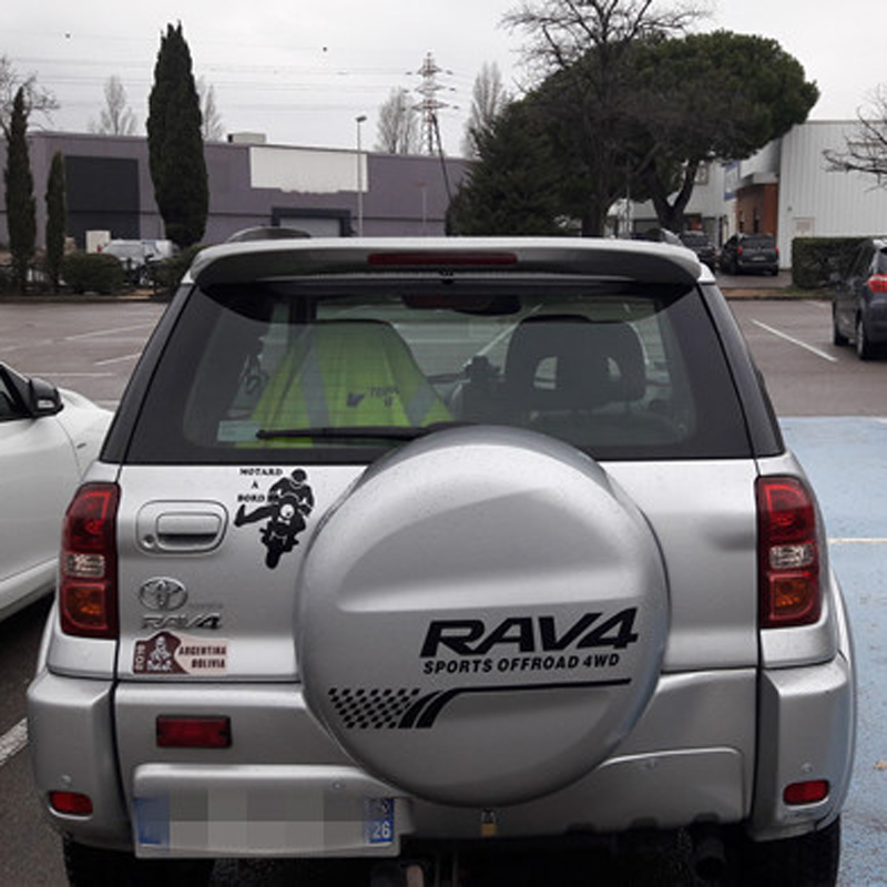 For Toyota RAV4 Car Decoration 2001 2002 2003 2004 2005 2006 2007 ABS Plastic Paint Painting Color Rear Trunk Roof Spoiler