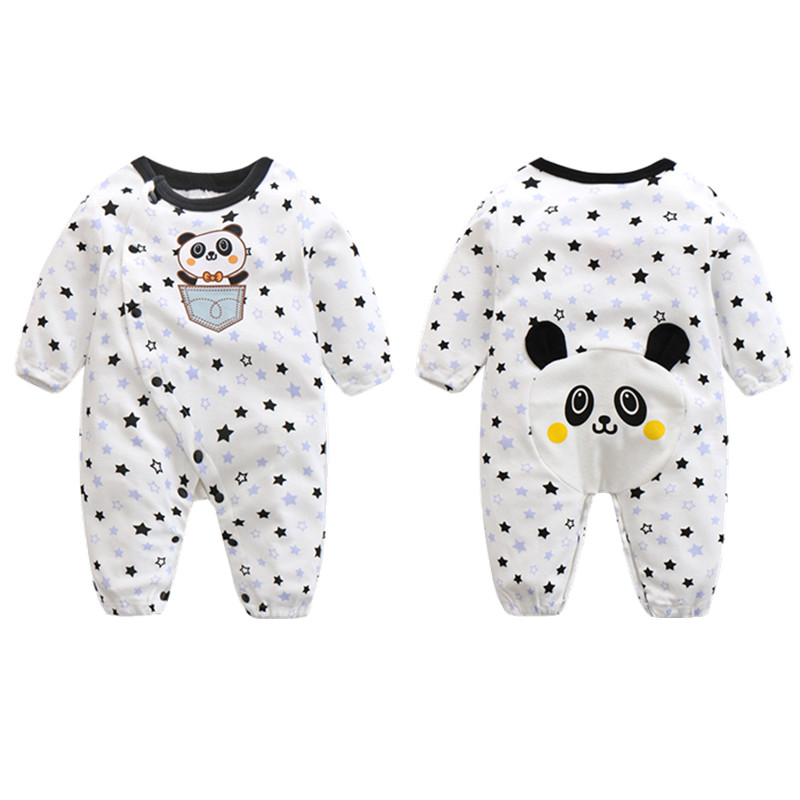 CalaBob Newborn Baby Rompers Winter Clothes Long Sleeve Cotton Baby Jumpsuit Cartoon Bear Boy Girl Overalls Infant Clothing fashion baby clothes cartoon baby boy girl rompers cotton animal and fruit pattern infant jumpsuit hat set newborn baby costumes