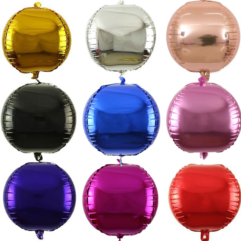 50Pcs Colorful 22Inch 4D Aluminum Foil Inflatable Balloons Wedding Decorations Baby Shower Birthday Ballons Party Supplies