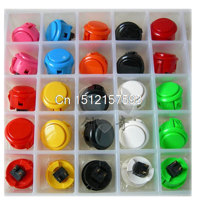 2pcs Original Sanwa Push Button OBSF-30 30mm Arcade Jamma Game Joystick Wobble Switch White Black Red Yellow Gray Blue Green button switch a165l agm t1 2 original