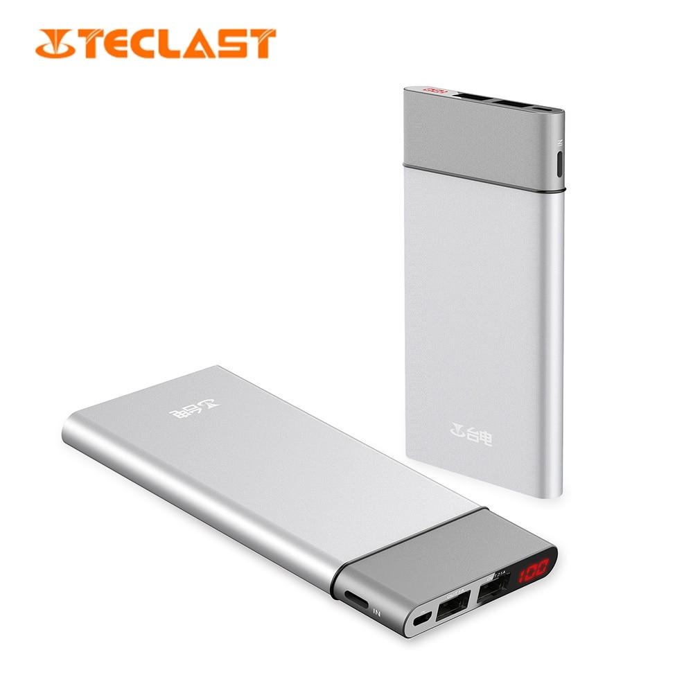 imágenes para Teclast t100uc-s 10000 mah banco de la energía de 8 pines y micro usb de entrada dual pantalla digital inteligente
