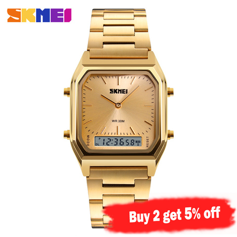 SKMEI Fashion Casual Watch Men Digital Dual Time Sports Chronograph 3bar Waterproof Quartz Wristwatches relogio masculino 1220 Lahore