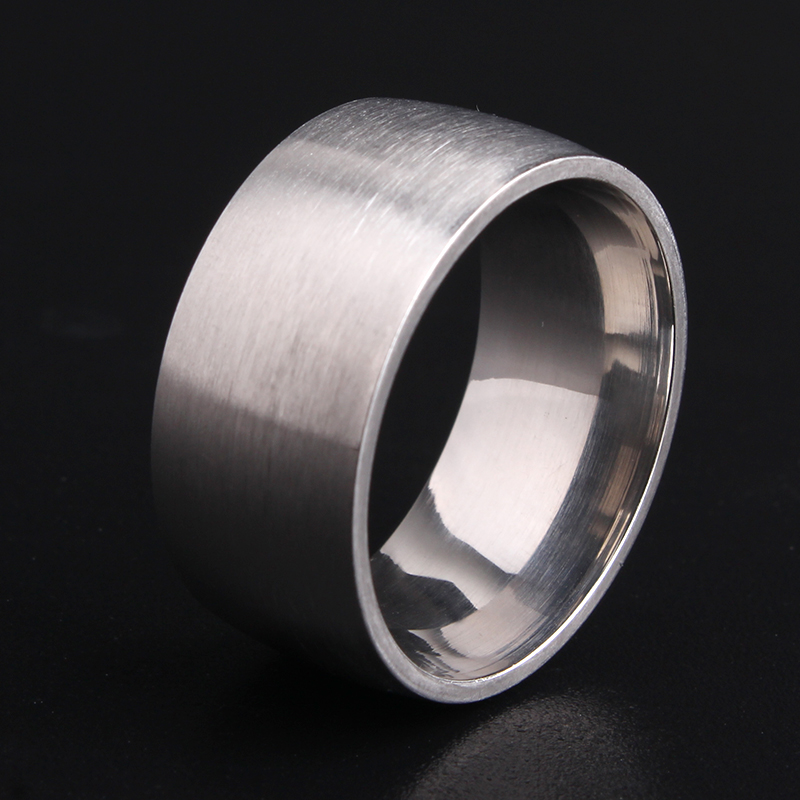 free shipping 10mm Silver Matte Smooth 316L Stainless ...