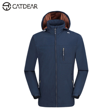 Men's single-deck Soft shell jacket men Outdoor Leisure mountaineering wear polar fleece keep warm waterproof Outdoor jacket