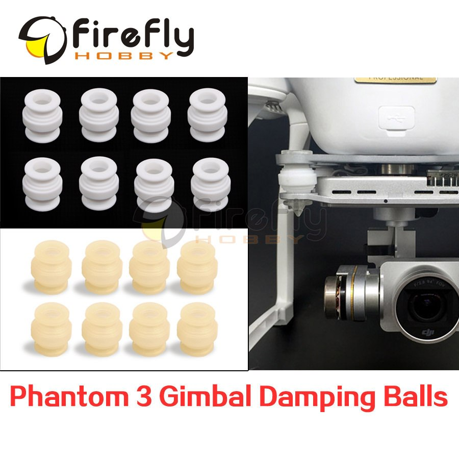 8pcs DJI Phantom 3 DIY Accessories Gimbal Camera Vibration Damping Rubber Balls