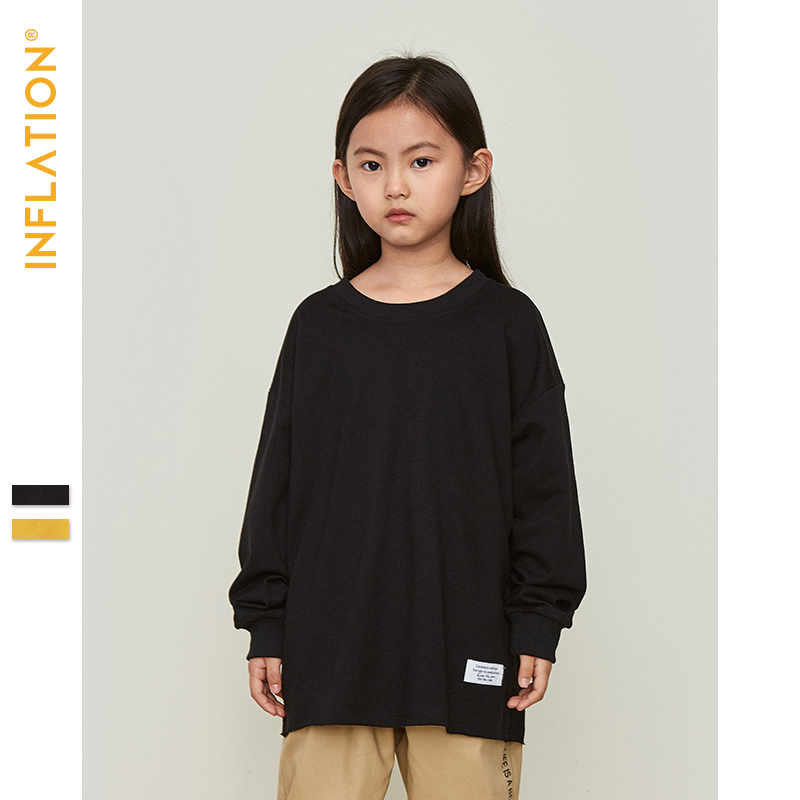 INFLATION Kids Sweatshirts Boys Streetwear Loose Thin Sweatshirts 2019 Autumn Long Sleeve O Neck Girls Sweatshirts SW9602 in Hoodies Sweatshirts from Mother Kids