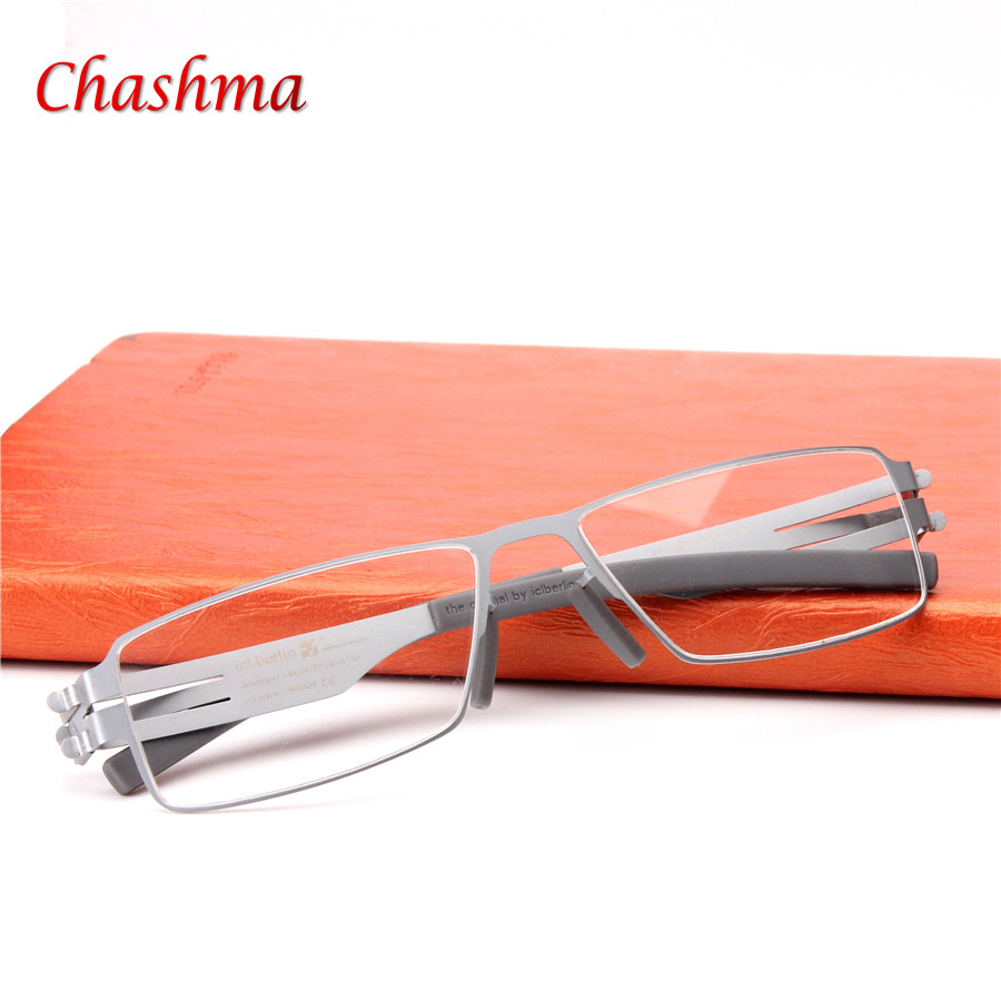 High quality IC Germany Unique No screw Design Brand Eyeglasses Frames Ultra Light Ultra thin Men / women myopia spectacle frame