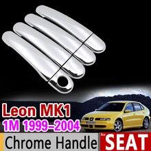 Para Seat Leon MK1 1999-2004 1 M de Lujo Chrome Cubierta de La Manija de corte Establecido 2000 2001 2002 2003 Accesorios Del Coche Pegatinas Coche Styling