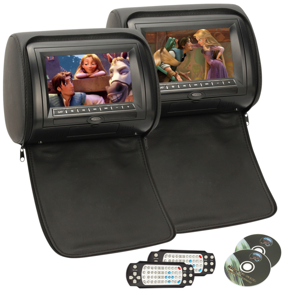 Aliexpress com buy car headrest dvd player pumpkin black universal digital screen zipper car monitor usb fm tv game ir remote support russian from