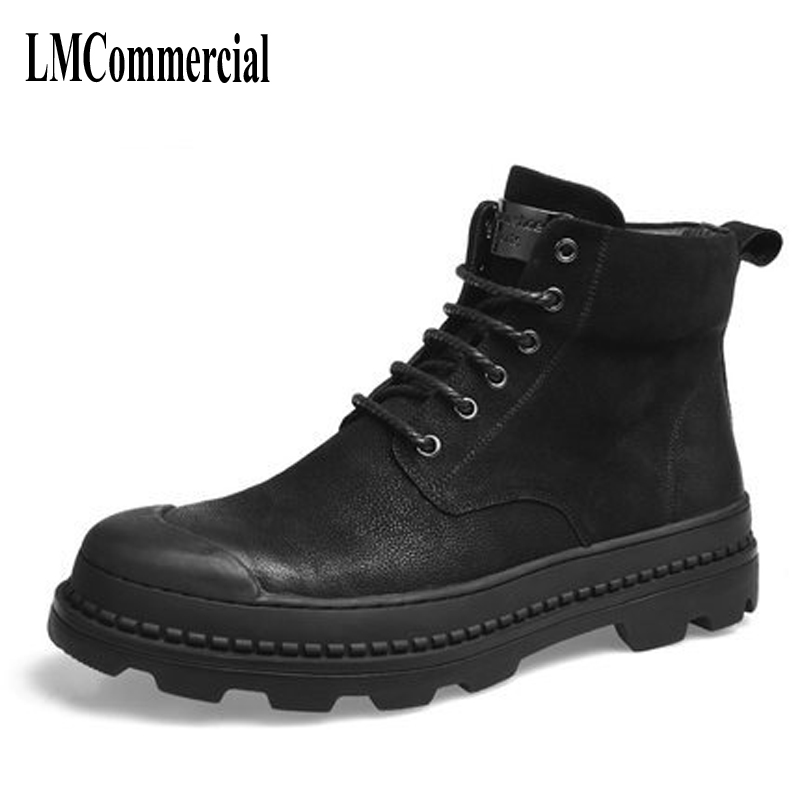 hot 2017 authentic men s boots british tide martin boots men s leather boots leather boots lovers scooter 34 45 Martin boots high men shoes for male leather shoes fall men desert boots for British style men boots male tide
