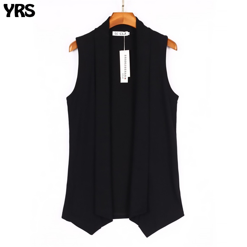 Long Length Fashion Style Mens Vest Solid Open Stitch