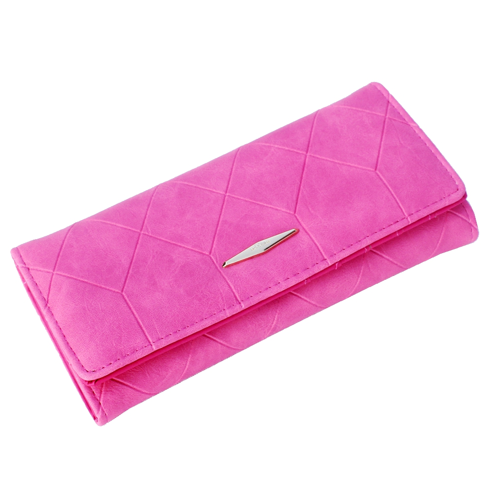 New fashion grid embossed wallet womens wallets and purses,Ladies clutch long purse,Female Hasp coin purses card holder Carteira new fashion women leather wallet deer head hasp clutch card holder purse zero wallet bag ladies casual long design wallets