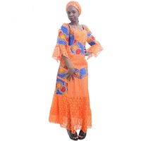 African style women's dress fashion elegance lace dress embroidery craft handmade boutique for wedding and party