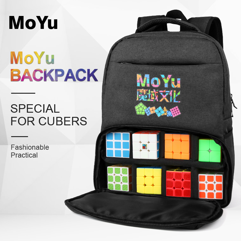 New Moyu Backpack Bag Balck Professional Bag For Magic Puzzle Cube 2x2 3x3x3 4x4 5x5 6x6 7x7 8x8 9x9 10x10 ALL Layer Toys Games