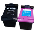 2 сменных чернильных картриджа HP 301XL CH563EE CH564EE для hp Deskjet 3000 3050 3050A 3054 3054A 3055A 3510 3511 3512