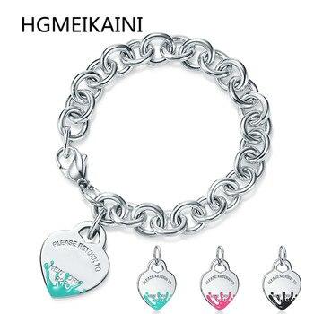 bc3eac65f892 100% de Tiff de moda caliente es verdad hasta del esmalte de la plata  esterlina 925 colgante de collar de corazón de moda DIY damas presentes