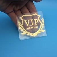 diy car 3D VIP MOTORS logo metal car logo badge decals door and window body car decoration DIY sticker car decoration style (4)