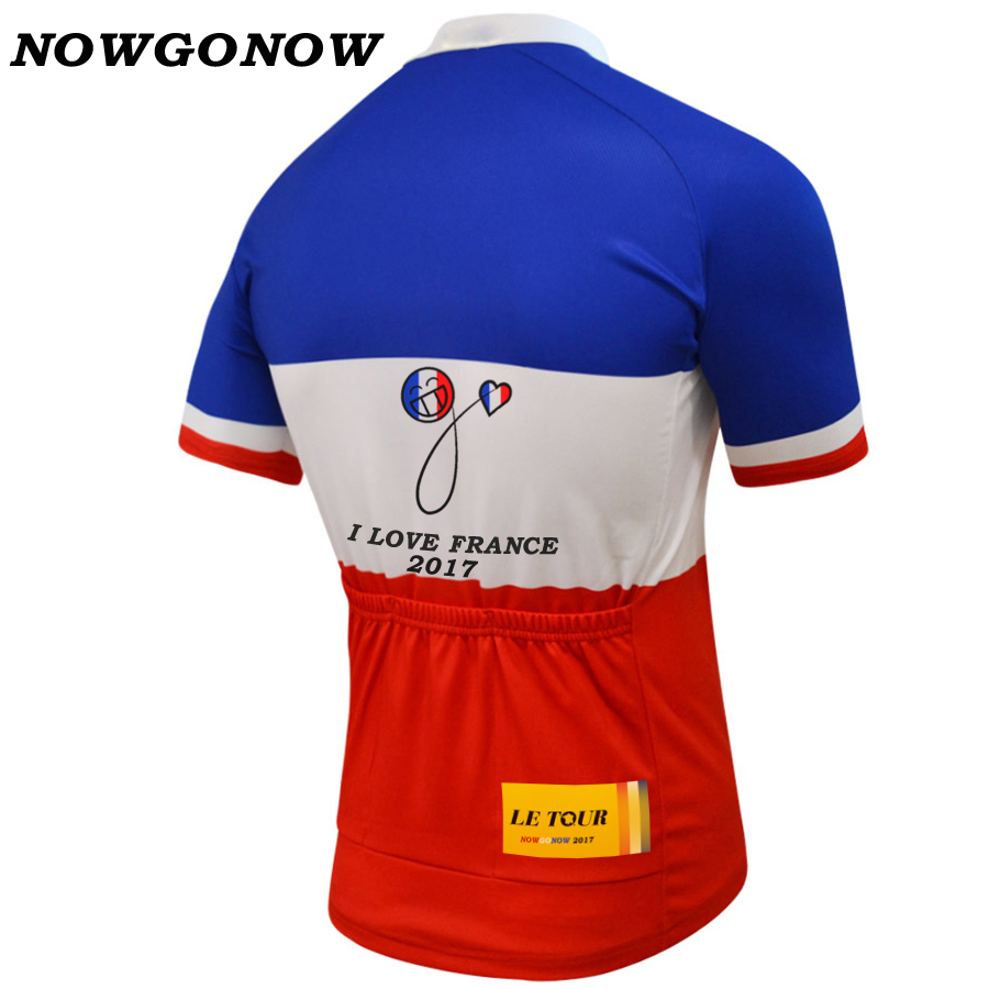 info for bc562 d175c US $18.88  NOWGONOW 2018 Cycling Jersey French Flag national team men  Bicycle Clothing Bike Wear pro road Maillot Ropa Ciclismo great tour-in  Cycling ...