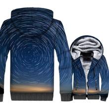 Space Galaxy 3D Print Hoodie Men Paisley Nebula Sweatshirt Harajuku Coat 2018 Winter Thick Fleece Warm Zip up Stars Jacket Homme