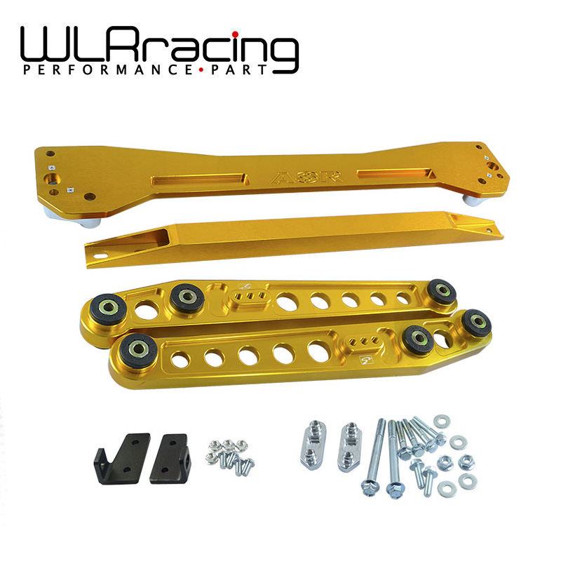WLRING- ASR REAR SUBFRAME For 1996-2000 Civic + Rear Lower Control Arm Arms + 96-00 EK Tie Bar High Quality Anodize 6 Color neo chrome rear lower control arm lca for honda civic 2001 2005 e2c