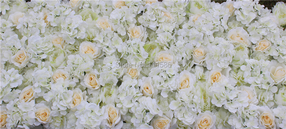 SPR 50 * 200cm 결혼식 꽃 벽 2018 뜨거운 무대 배경 장식 공장 인공 꽃 결혼식 배열