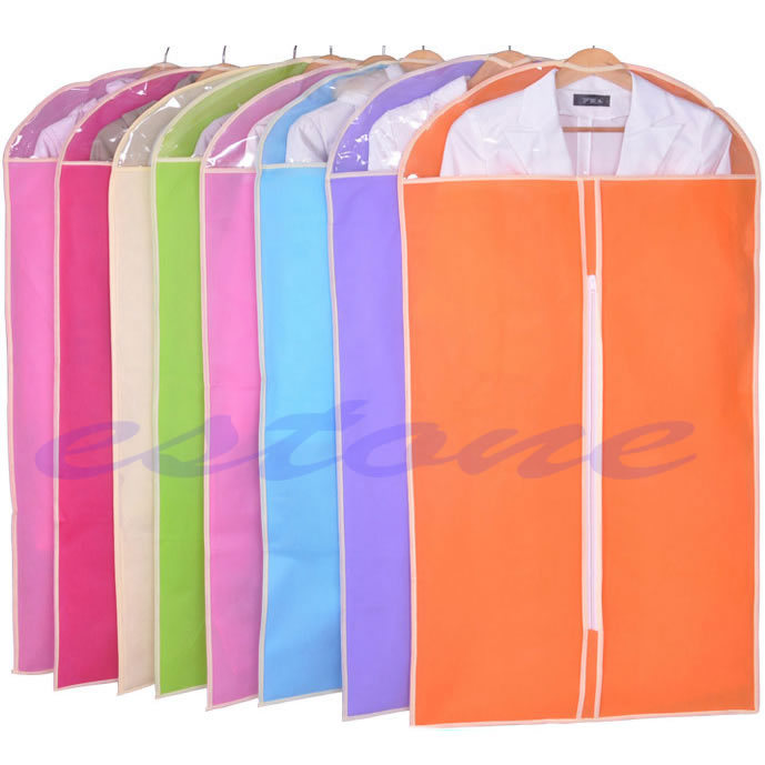 new clothes dress garment suit cover bag dustproof jacket skirt storage protector color randomchina