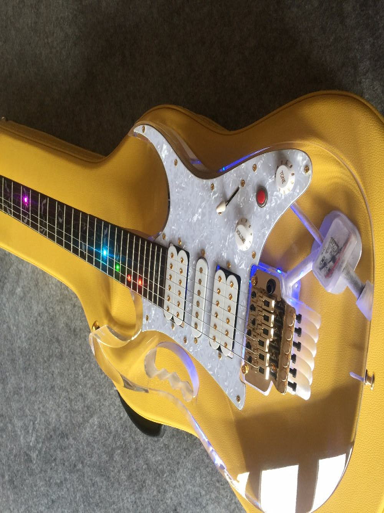 Guitare électrique/guitare cristal Anmiyue + boîte de guitare/guitare chinoise personnalisable de haute qualité