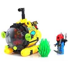 ÉCLAIRER 1213 Ville Série chasse Au Trésor sous-marin minuscule Building Blocks Figurine Modèle Enfants Jouets Compatible Legoe Pour Enfants