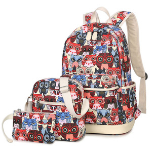 Image 5 - 2020 mulheres coruja animal impressão mochila lona bookbagpack mochilas escolares sacos para meninas adolescentes mochila