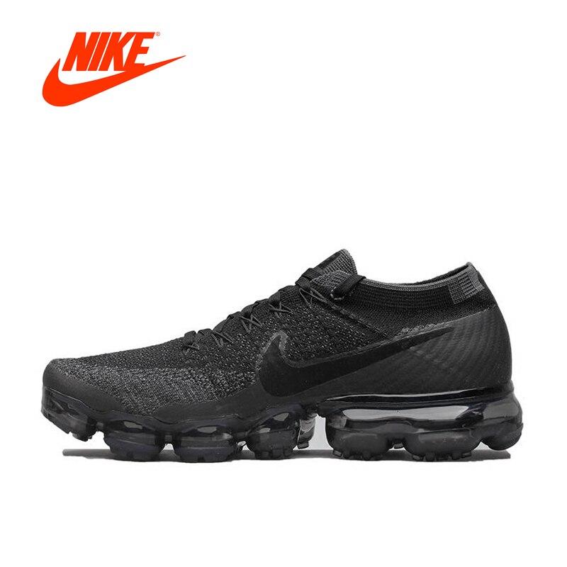 Новое поступление Оригинальные аутентичные Nike Air VaporMax Flyknit кроссовки Мужские дышащие спортивные уличные кроссовки 849558-007