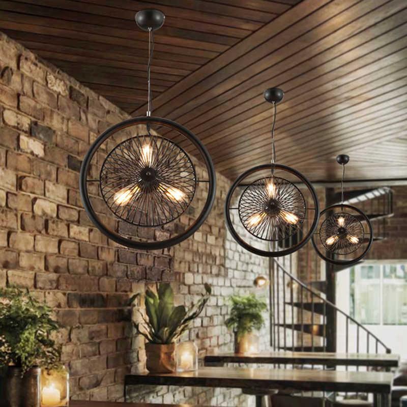 Винтажные Ретро скандинавские подвесные светильники ветряная мельница вращающиеся лампы для бара ресторана клуба паба гостиной столовой прохода лестницы кафе лампы