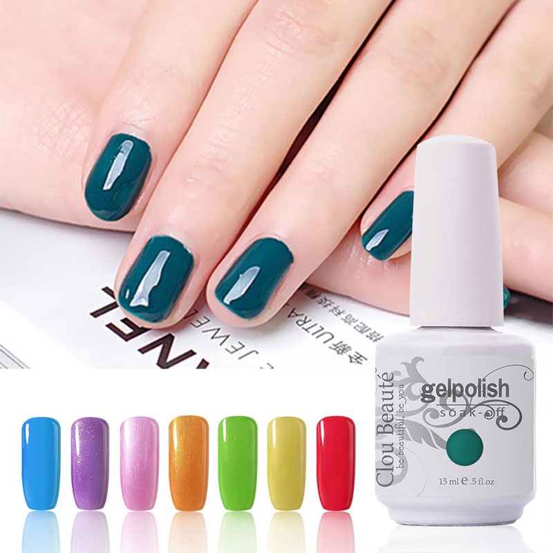 220 barv 15ml Clou Beaute Izberi 1 barvo UV gel za nohte Art Design Design Polish gel Soak Off Color Gel lak za nohte