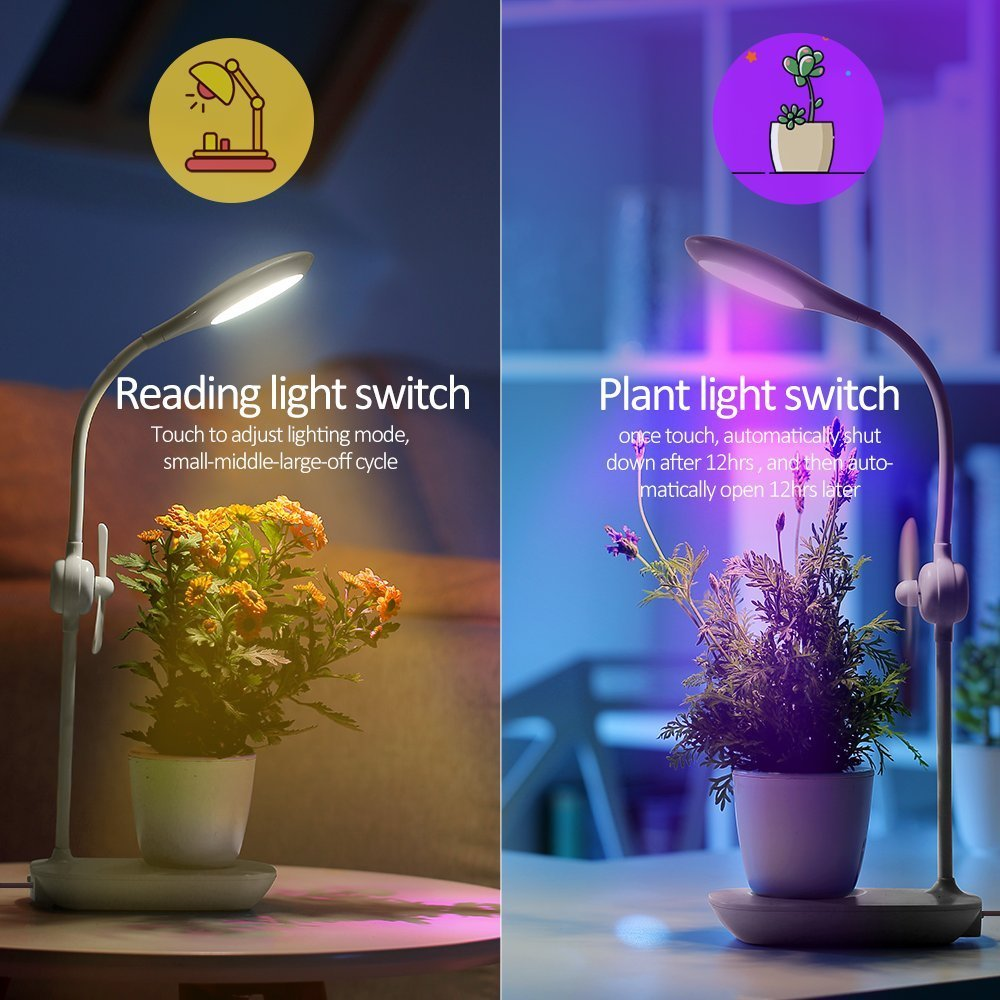 Led Desk Grow Light Full Spectrum Cob Table Growing Lamp With Recharge Battery Build Inside Free Sponge Soil Planting Lights In Lamps From