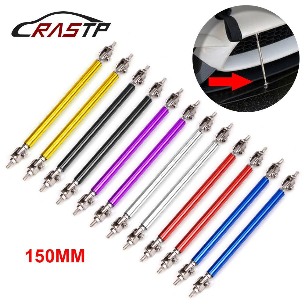 RASTP-2Pcs/Set Universal Adjustable 85mm 150mm Car Front Bumper Protector Lip Rod Splitter Strut Tie Bar Support RS-BTD009