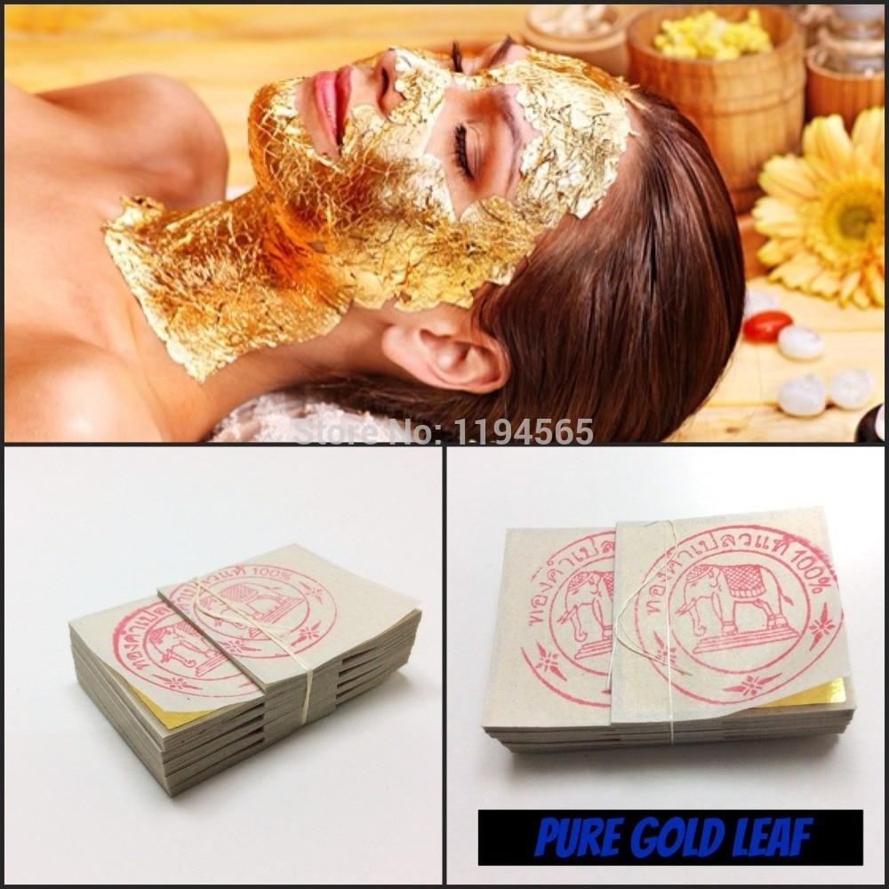 5PCS  3*3cm Gold Foil Mask  Sheet Spa 24K Gold Face Mask Thailand Beauty Salon Equipment Anti-Wrinkle Lift Face  Beauty Care