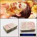 5 PCS 3*3 cm Da Folha de Ouro Folha de Máscara Spa 24 K Máscara de Ouro Tailândia Equipamento do Salão de Beleza Anti-Rugas Face Lift Cuidados de Beleza