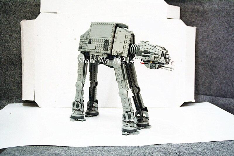 05051 1157Pcs Star Wars The Force Awakens AT-AT Model Building Kits mini Blocks Bricks Compatible 75054 Toys for children