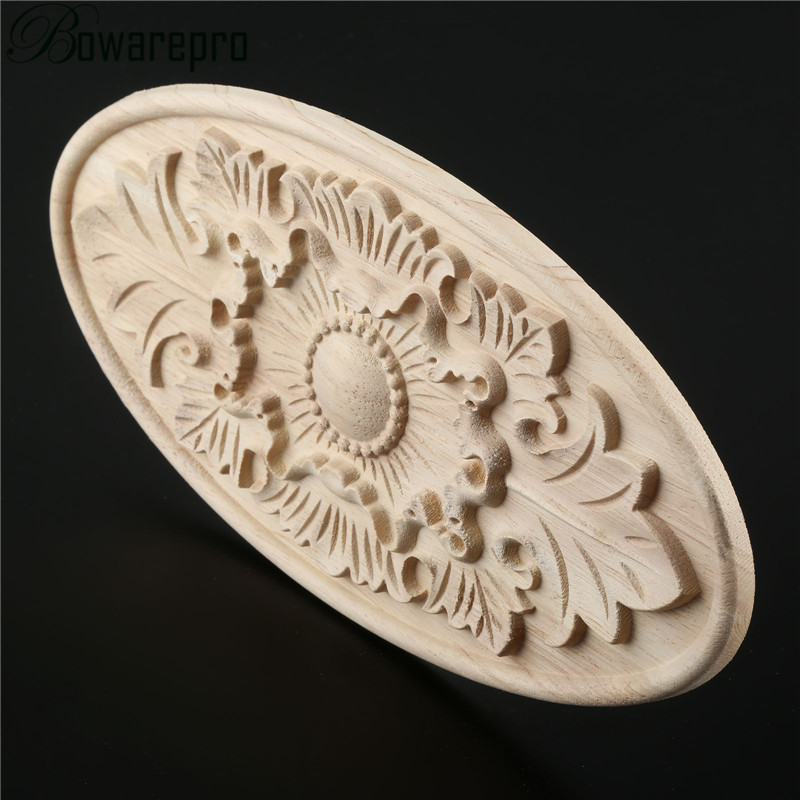 Statues & Sculptures Hearty Bowarepr Applique Frame Wood Applique Furniture Accessories Oval Solar Gate Flower Craft Wedding Decoration Home Decor Miniature Easy To Lubricate